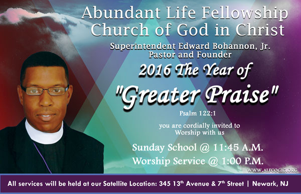 ALFCOGIC 2016 The Year of Greater Praise